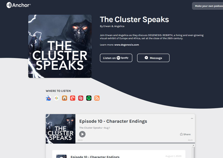 The Cluster Speaks