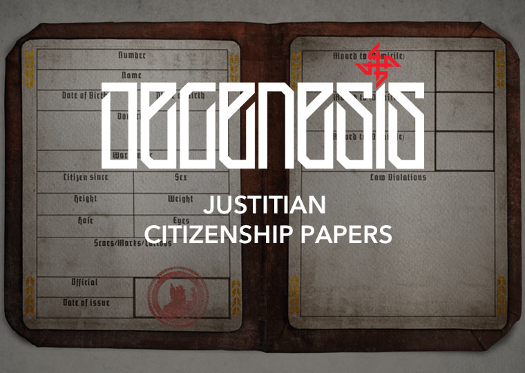 Justitian Citizenship papers